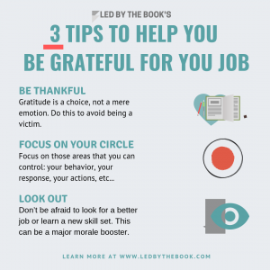 3 tips to help you be grateful for your job