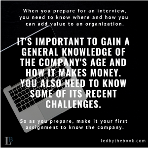 How to prepare for an interview - Led by the Book