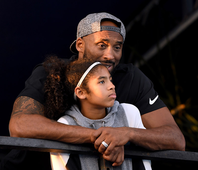 Picture of Kobe Bryant and daughter Gianna